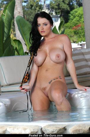 Delightful Unclothed Brunette Babe (Hd Porn Wallpaper)