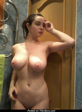 Инна - Dazzling Brunette Babe with Dazzling Naked Real Substantial Busts & Huge Nipples (Home Hd Porn Pic)
