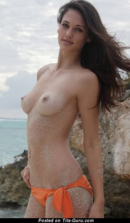 Image. Nude wonderful girl with natural boobs pic
