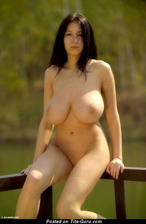 Nude wonderful female with natural tittes pic