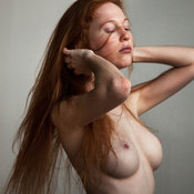 Wonderful lady with medium natural breast picture
