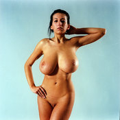 Amazing woman with big natural boobs and big nipples picture