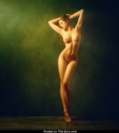 Image. Beautiful lady with natural breast image