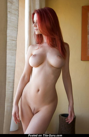 Ariel - Grand Red Hair Babe with Grand Nude Real Dd Size Balloons (Hd Xxx Photoshoot)