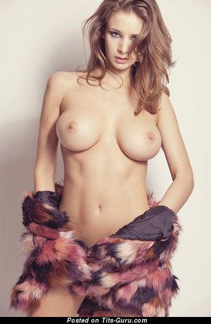 Image. Naked beautiful girl with big breast picture