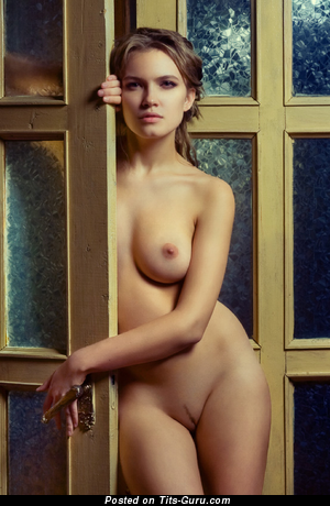 Image. Naked wonderful girl with medium natural boobs image