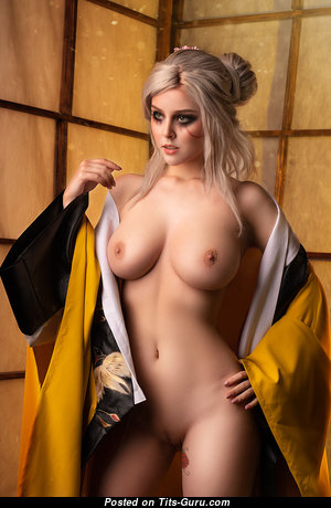 Helly Von Valentine - Delightful Topless Blonde Babe with Delightful Nude Medium Sized Tittes is Undressing (Cosplay Hd Porn Foto)