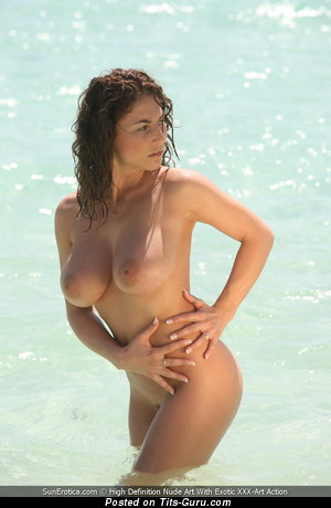Roberta Missoni - sexy topless nice female with medium natural tots photo