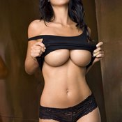 Brunette with big breast pic