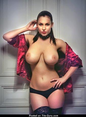 Dagmara Bajura - Beautiful Polish Red Hair Babe with Beautiful Open Natural Big Knockers & Pointy Nipples (Sex Photo)
