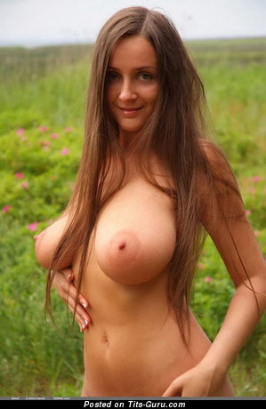 Image. Nude amazing lady with big natural boob image