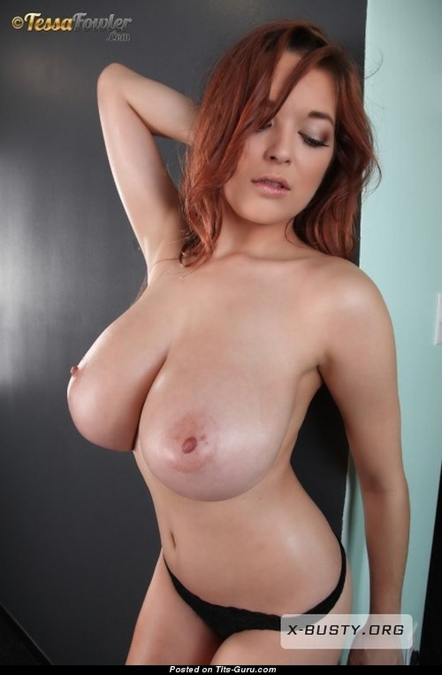 Tessa Fowler - Topless Red Hair Pornstar With Bare Natural -7279