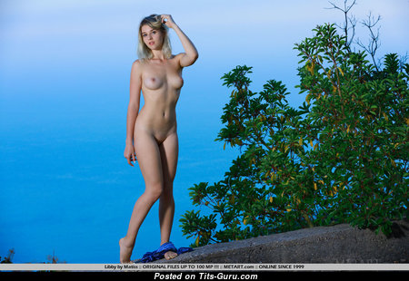 Libby - Perfect Topless British Blonde Babe with Perfect Exposed Real Firm Boobie (Xxx Pix)