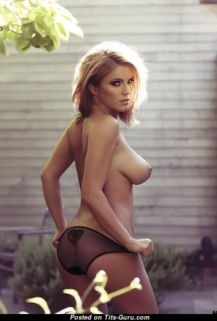Pleasing Glamour Babe with Pleasing Nude Natural Med Boobies & Enormous Nipples (Sexual Image)