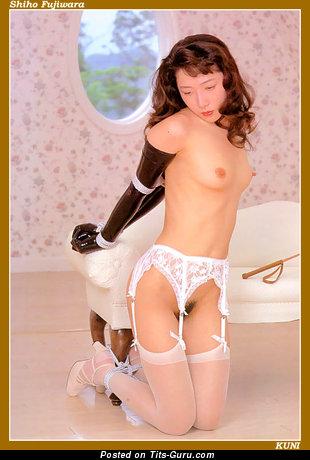 Sakura Sena Aka Shiho Fujiwara - Sexy Topless Moll with Alluring Naked Real Tiny Breasts (Porn Pic)