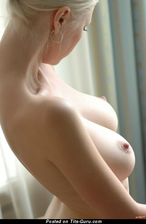 Image. Nude blonde with big natural boobies and big nipples photo