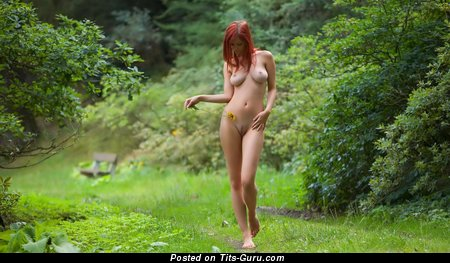 Image. Ariel - naked red hair with medium natural breast photo