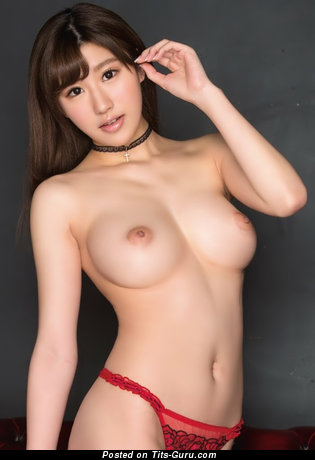 Image. Sexy naked asian brunette with big boobies photo