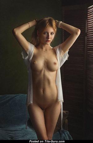 Alina Panevskaya - Dazzling Red Hair Babe with Dazzling Defenseless Regular Jugs in Lingerie (Sex Photo)