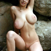Wonderful girl with big breast and big nipples photo