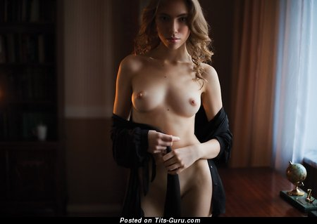 Image. Nude awesome female with medium natural tittes image
