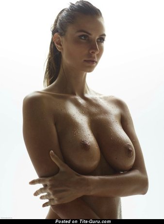 Image. Sexy topless amateur amazing female with big natural boob image