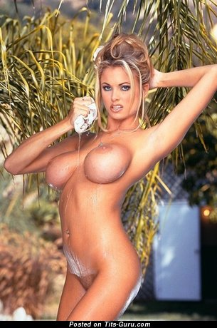 Image. Brianna Banks - wet nude amazing female with big fake breast image