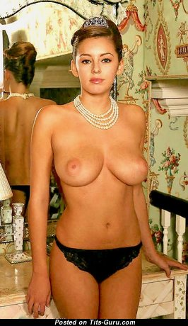 Keeley Hazell - Dazzling Glamour & Topless British Red Hair Babe with Dazzling Nude Natural Firm Boobie, Big Nipples, Piercing & Tan Lines in Lingerie (Xxx Pix)