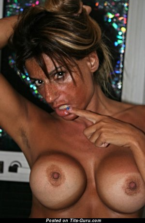 Image. Isabelle Cooper - topless amateur hot woman with huge fake tits and big nipples picture