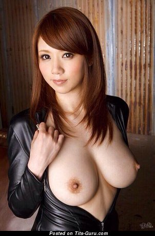 Image. Sexy naked asian brunette with medium natural tittys photo