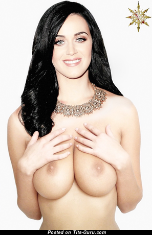 Katy Perry - sexy nude blonde with medium natural tittys photo