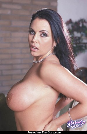Angelica Sinn - Lovely Glamour & Topless Brunette Pornstar with Giant Nipples (Sexual Photo)