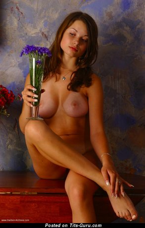 Image. Katia Galitsin - nude wonderful female with medium natural boobies photo