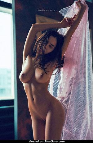 Lera Kovalenko - Stunning Brunette with Stunning Defenseless Natural C Size Hooters (Sex Pix)