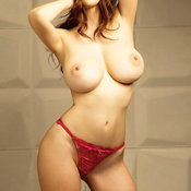 Unknown - sexy asian red hair with big tittys pic