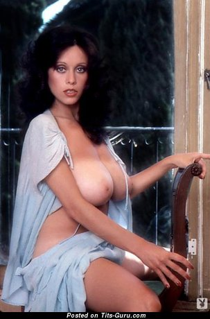 Patricia Farinelli - Pretty Topless American Playboy Brunette Actress with Pretty Defenseless Natural Ddd Size Knockers (Vintage Porn Photo)