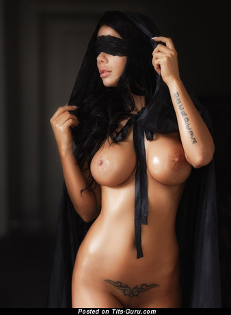Sexy naked beautiful female with medium breast image