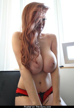 Image. Tessa Fowler - sexy naked red hair with big natural boob picture