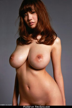 Image. Rara Anzai - sexy nude asian red hair with big natural boobies picture