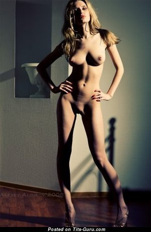 Image. Nude amazing girl with medium natural boob image