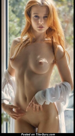 Graceful Red Hair Babe with Graceful Nude Natural Firm Titties & Puffy Nipples (Hd Xxx Foto)