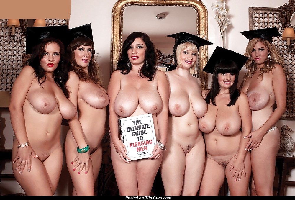 a huge group of women nude together