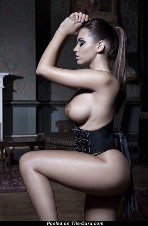 Sabine Jemeljanova - Delightful Latvian Brunette with Pretty Bald Sizable Balloons (Sex Photoshoot)