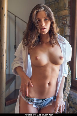The Nicest Topless Chick with Wonderful Defenseless Real Meager Breasts (Hd Porn Photo)