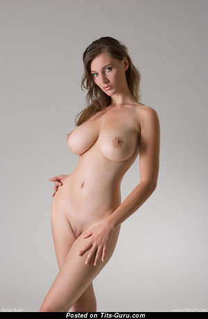 Image. Ashley Spring - sexy topless wonderful female with medium natural breast picture