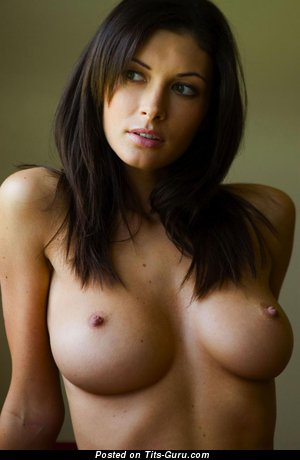 Hot Brunette Babe with Hot Defenseless Big Jugs (Hd Xxx Wallpaper)