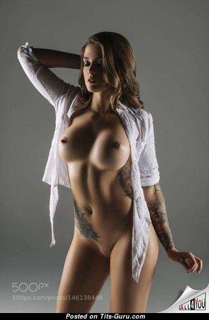 Stunning Babe & Girlfriend with Stunning Naked Fake Jugs (Porn Image)