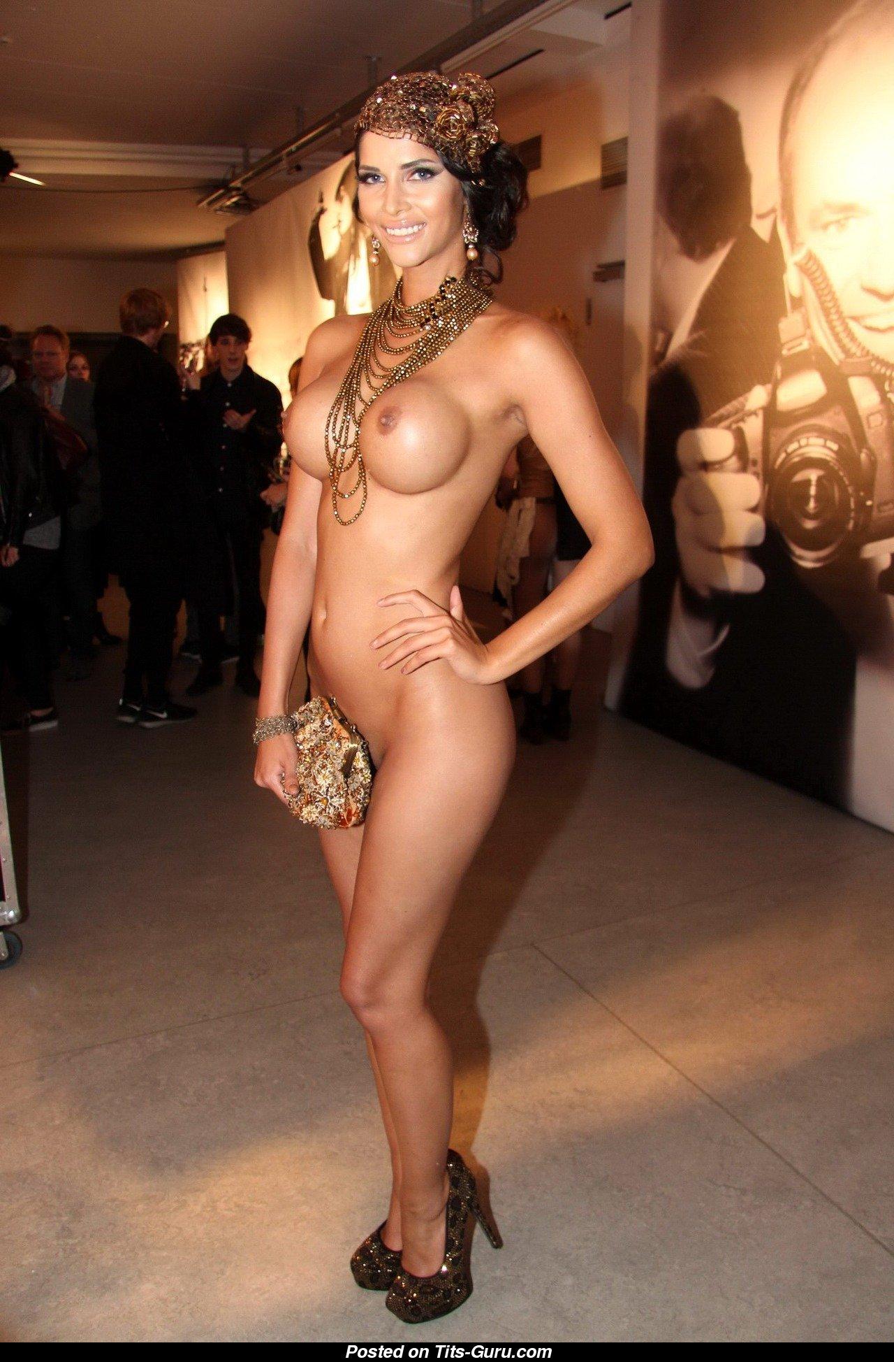 Big ebony fake tits