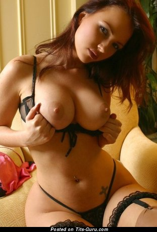 Image. Sexy nude red hair with big tittes pic