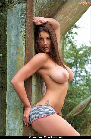 Emma Twigg - naked brunette with medium natural tits image